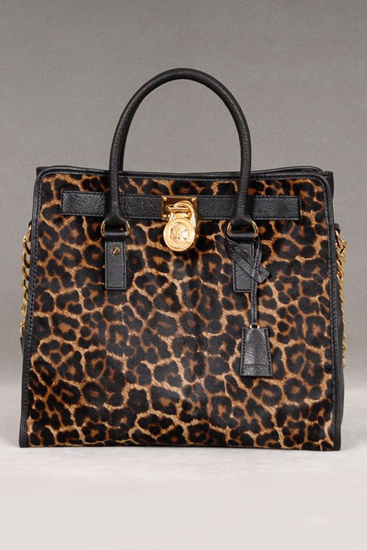 Michael Kors Hamilton N/S Haircalf Tote In Cheetah