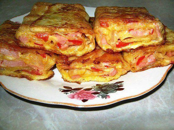 Очень вкусная закуска из лаваша с сыром и ветчиной | Домохозяйка