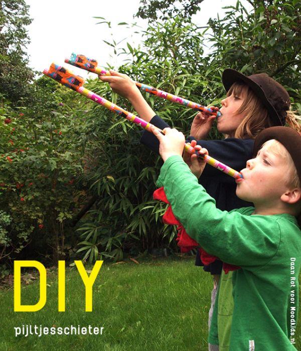 diy pijltjesschieter, zo maak je zelf een blaasbalk meer op www.moodkids.nl
