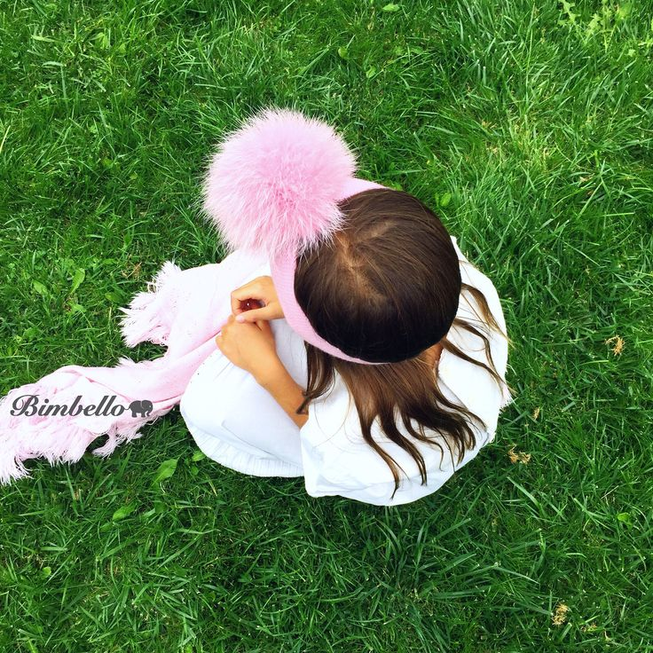 Cute and fluffy soft pink PomPom headband is perfect choice for special occasions ...