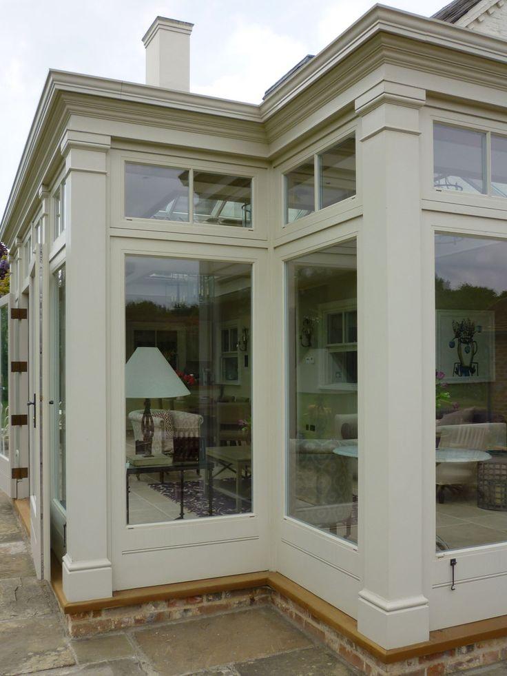 Corner pilasters framing an elegant orangery