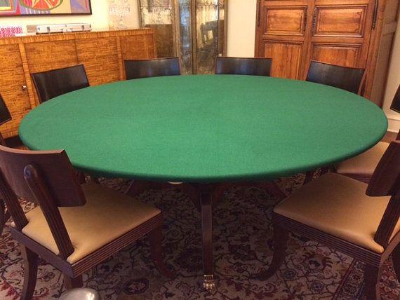 FELT Poker Table Cloth BONNET Cover For Round, Square Or Rectangle Patio  Tables   Bridge