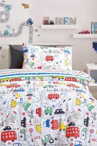 Beep Beep Cars Print Bed Set