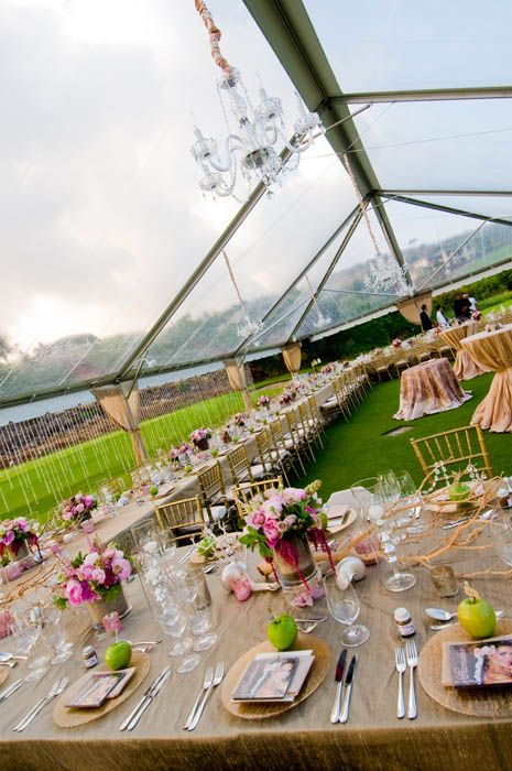 this is so beautiful! love the reception venue with the crystal curtains