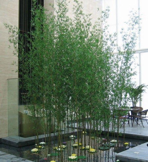 bambou artificiel réaliste pour deco vegetake interieur avec plantes vertes artificielles