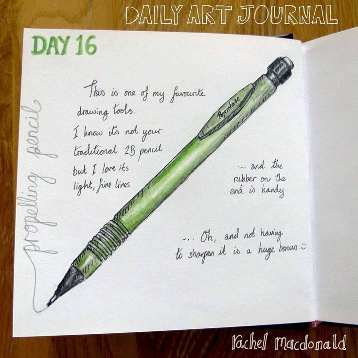 Daily Art Journal - Day 16, propelling pencil.  One of my favourite drawing tools. No hassle with sharpening - just good to go. :)