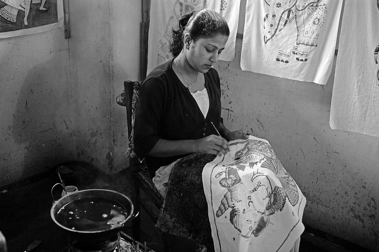 Sri Lanka / Batik artist