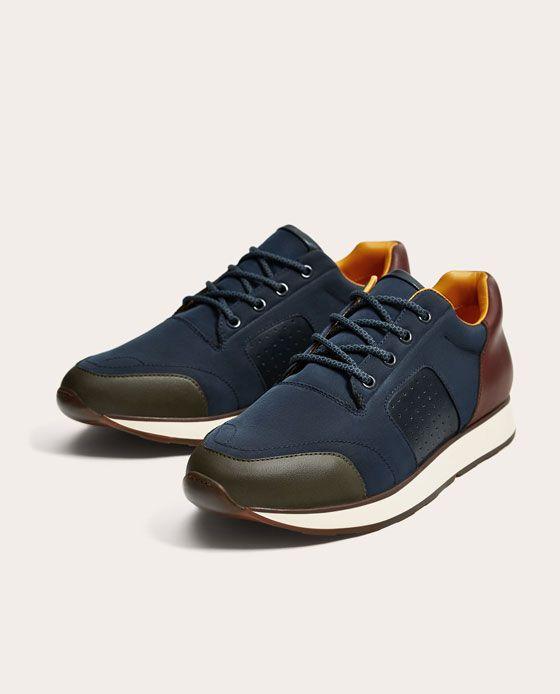 Zapatos Jazz con suela de goma con efecto brillante, color Marrón, talla 9.5 UK