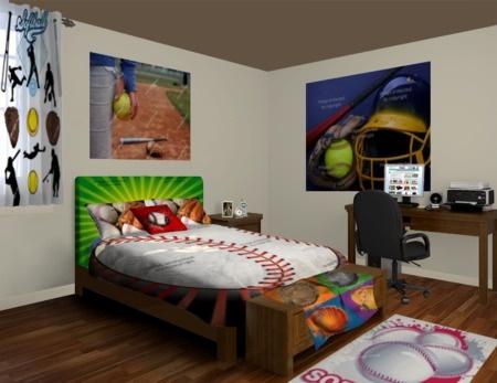 Softball Hopes Bedroom at http   www visionbedding com Softball. 116 best Room ideas for my athletic girl images on Pinterest