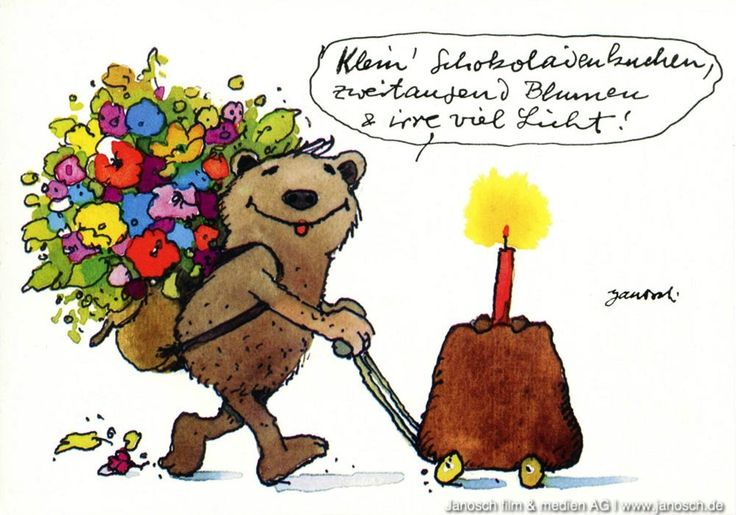 Stunning Klein Schokoladenkuchen zweitausend Blumen und irre viel Lichter Geburtstag Geschenk Schokoladenkuchen Postkarte Janosch Janosch Pinterest