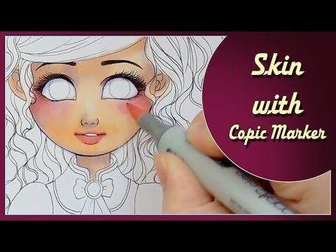 Coloring skin with Copic Marker - time lapse with commentary