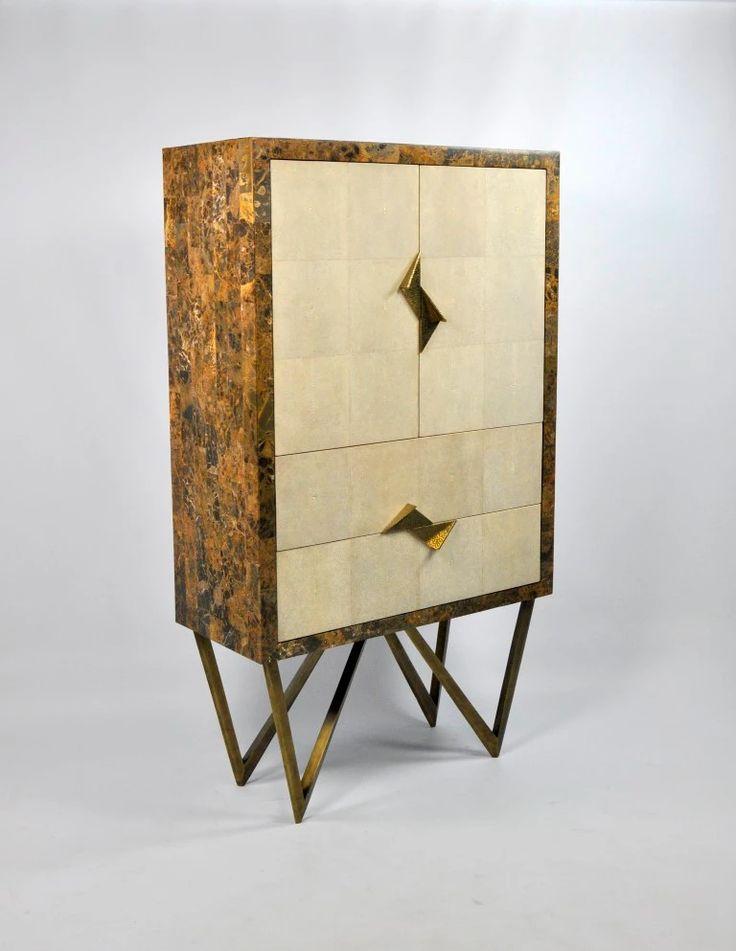 Ginger Brown France,galuchat,shagreen Furniture | Cabinets