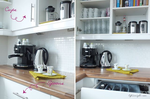 How I Set-up our Coffee/ Tea Station - Life in Eight
