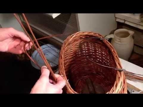 (866) Плетение корзины с откидными ручками.Ч.2. - YouTube