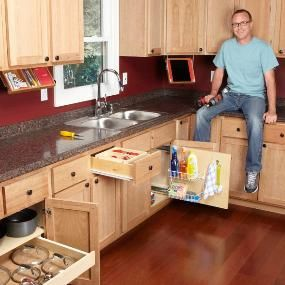 10 kitchen cabinet drawer organizers you can build yourself do it yourself home. Black Bedroom Furniture Sets. Home Design Ideas