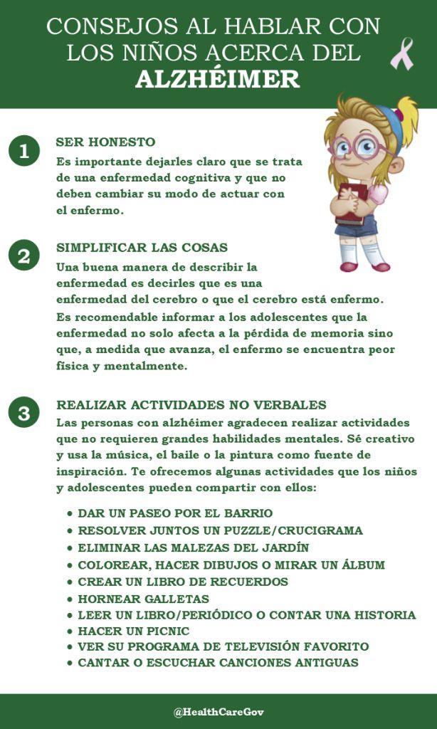 Consejos al hablar con los niños sobre el #Alzhéimer