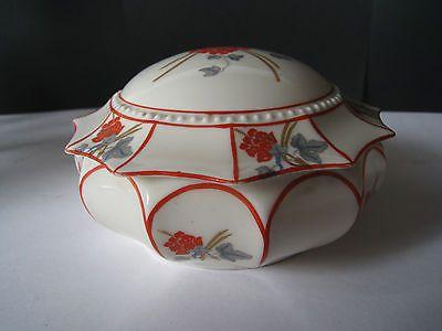 Porzellanschale mit Deckel, Graf von Henneberg Porzellan, Ilmenau