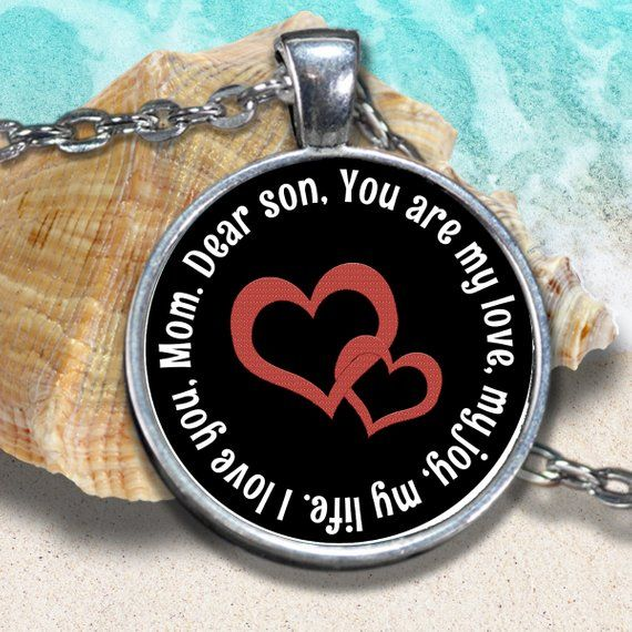 Mother Son Gifts Personalized Necklace from Mother to Son ...