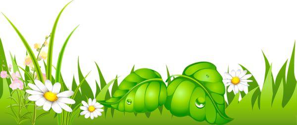 Трава с ромашками Ground PNG изображение