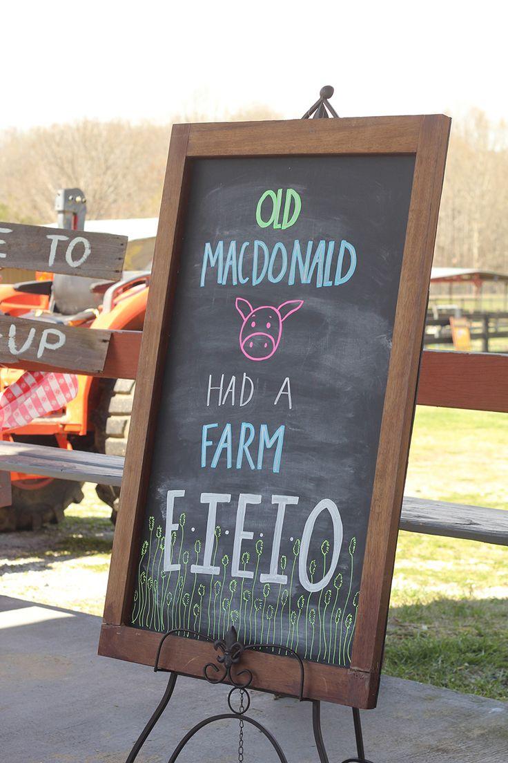 Pony Birthday Party Decor, Old MacDonald Had a Farm, E I E I O
