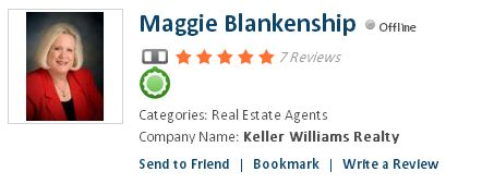 Maggie Blankenship,  Real Estate Agents  Company Name: Keller Williams Realty