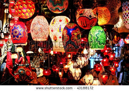 I am sure to get giddy headed when I see so many lanterns in a Turkish bazaar!