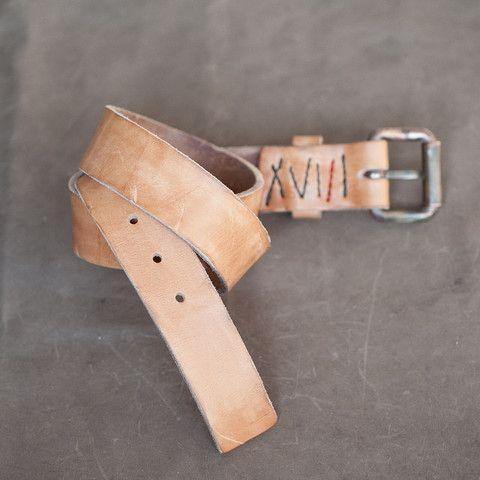 O.S. Waits Belt II | Veg Tan – 18 Waits