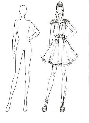 How to sketch a clothing design