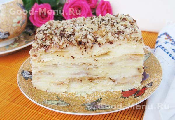 Торт Наполеон с заварным кремом - рецепт