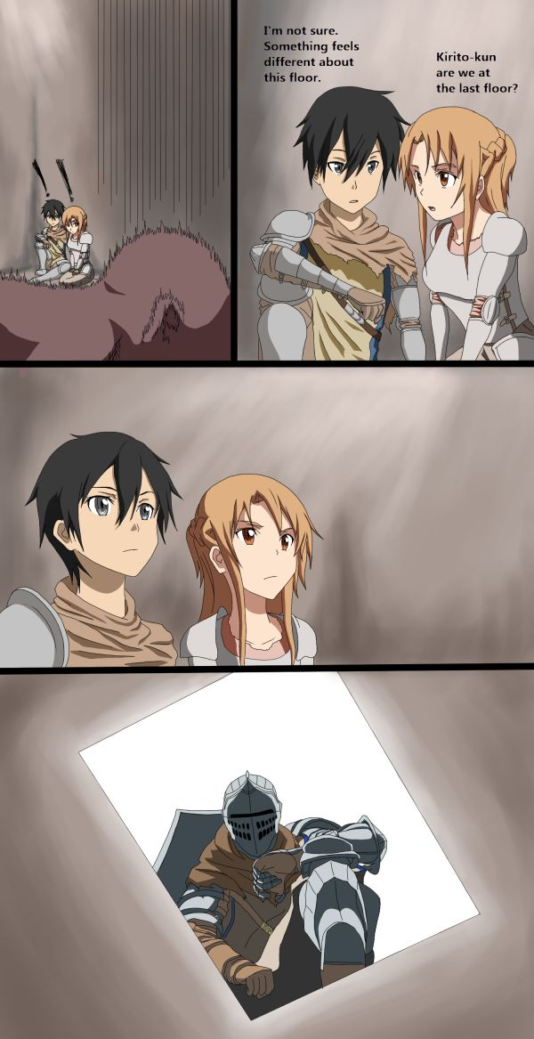 Sword Art Online,SAO, ALO, ALfheim Online, GGO, Gun Gale Online, Alicization,Anime,Аниме,Dark Souls,фэндомы,DS crossover,Kirito,Kirigaya Kazuto,Asuna Yuuki