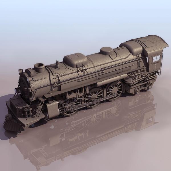 CGI - $6 - classic train 3ds - Classic Train... by ProductCompanyUA