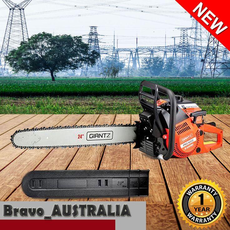 """92cc Petrol Chainsaw 24"""" Bar Tree Pruning Pruner Log Firewood Chain Saw"""