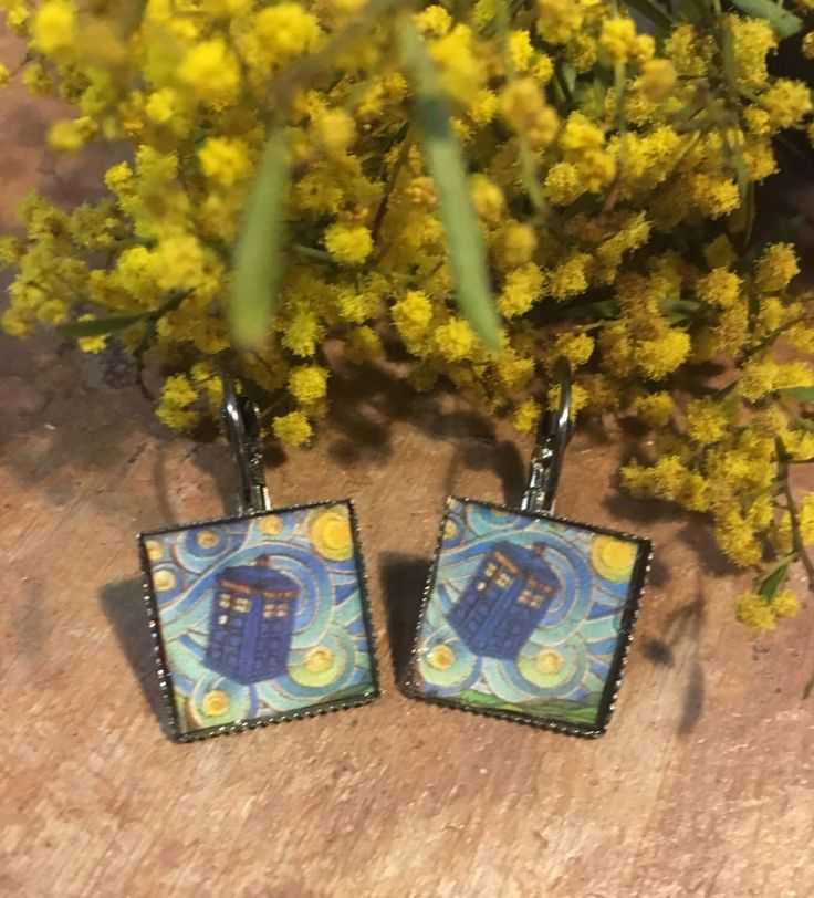 A personal favourite from my Etsy shop https://www.etsy.com/au/listing/483750859/doctor-who-tardis-earrings-art-jewelry