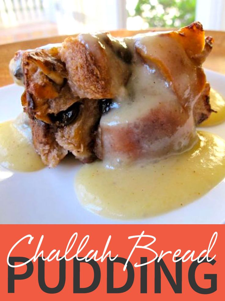 This Challah Bread Pudding is the perfect comfort food recipe! It's also a great way to use up leftover challah after a Shabbat meal! http://www.joyofkosher.com/recipes/challah-bread-pudding/