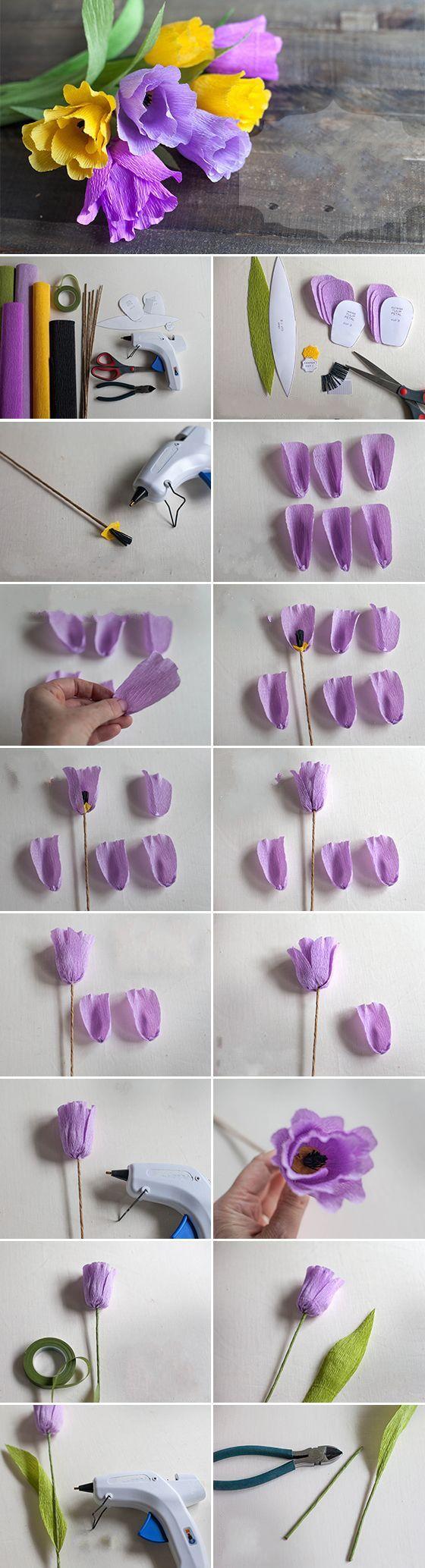 El İşi Kağıdından Yabani Çiçek Yapımı HobiTeyze.com | Kendin Yap Sitesi | HobiTeyze.com | Kendin Yap Sitesi