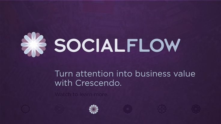 SocialFlow. Your company uses social media to engage your customers, to get them to visit your website, share your content and Retweet it. B...