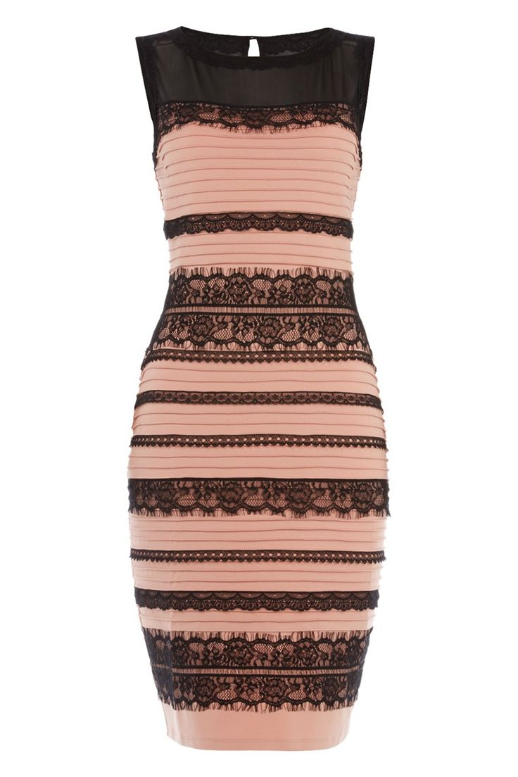 #TheDress Lace Bodycon Dress - Love this colour instead