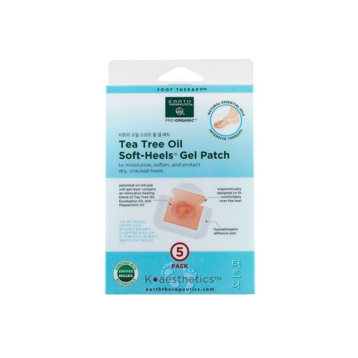 Earth Therapeutics 5-pk. Tea Tree Oil Soft Heels Gel Packs, Multicolor