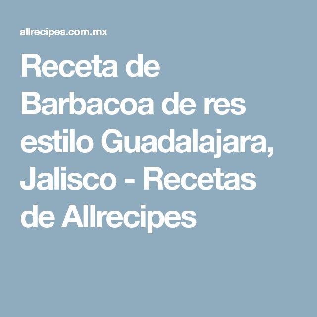 Receta de Barbacoa de res estilo Guadalajara, Jalisco - Recetas de Allrecipes