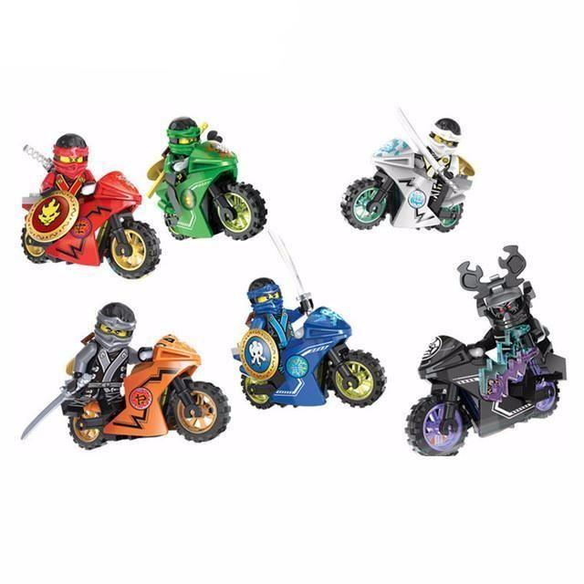 Hot Ninja Motorcycle Minifigures