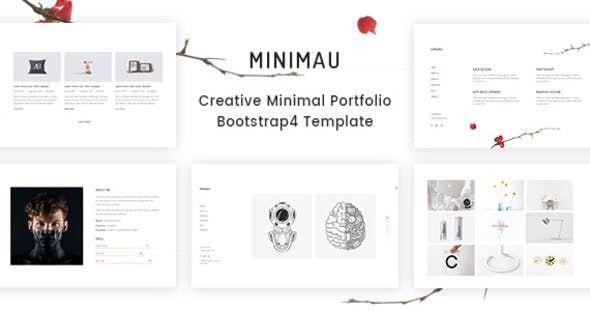 Minimau Creative Minimal Portfolio Bootstrap4 Template By Hastech Creative Portfolio Templates Html5 Templates