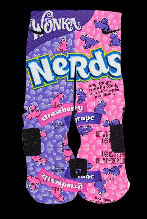 Nerds Inspired Custom Nike Elite Socks by InWestCoastCreations