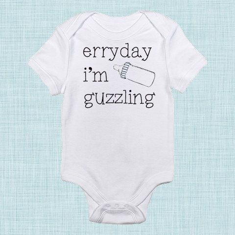 Everyday I'm Hustling Funny Baby Clothes Baby by BabeeBees on Etsy, $15.59