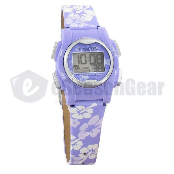 VibraLITE Mini 12 Alarm Small Vibrating Watch for Kids/Women, Purple, VM-LPL #22