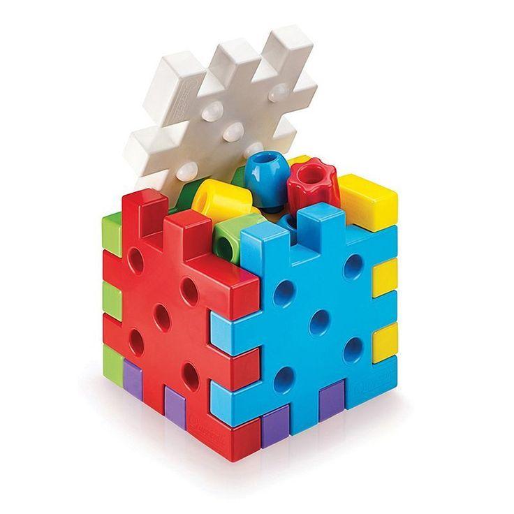 Quercetti Qubo Building Blocks Game, Multicolor