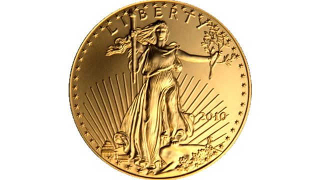 American Gold Eagle Coins by Golden Eagle Coins. In 1986, the United States began striking silver and gold bullion  coins to compete with world bullion coins such as the Canadian Maple Leaf, the South African Krugerrand, and others. The value of these coins was intended to be tied directly to their metal value, although in some cases (where mintages were low) a collector market has developed. The bullion value of these coins far outstrips their face value. The obverse of U.S. gold bullion…