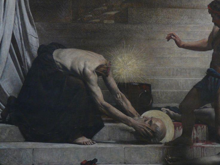 Mural of the martyrdom of St. Denis: Paris, Post, Patron Saint, Head