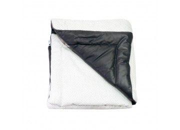édredon, noir et blanc, black & white, made in france, baby quilt, black and white quilt