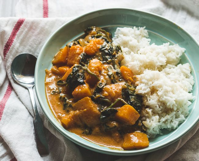 Butternut squash red curry is not just for the cold months.