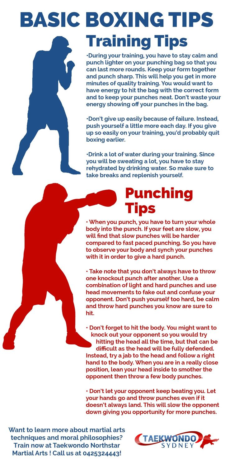 Basic Boxing Tips Visual.ly in 2020 Kickboxing workout